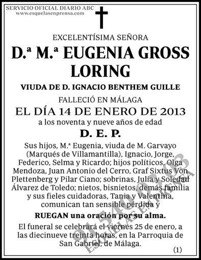 M.ª Eugenia Gross Loring